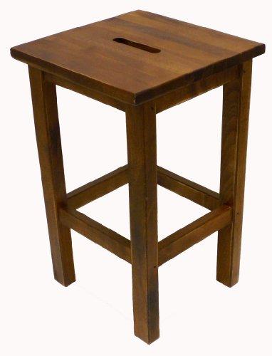 Sgabello Sedia in Legno massello noce marrone da Interno casa bar ristorante h 45 cm