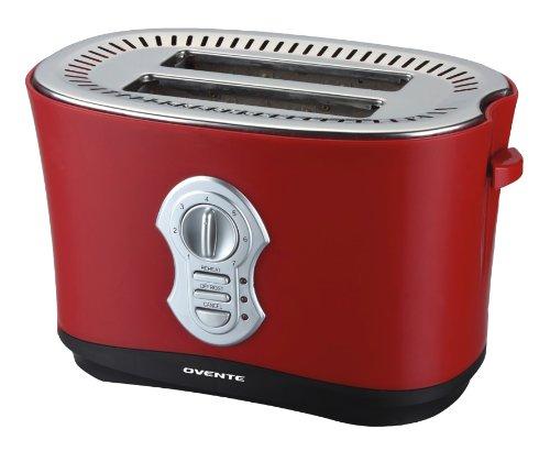 Ovente 2250M 2-Slice Toaster, Matte Red
