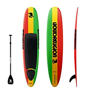 12'6 LIQUID RELIGION SUP Board (RASTA) FREE PADDLE, DECK PAD & FIN - Best Stand Up Paddle Board - Top Quality Paddleboard - Beginner Epoxy SUP Surfboard