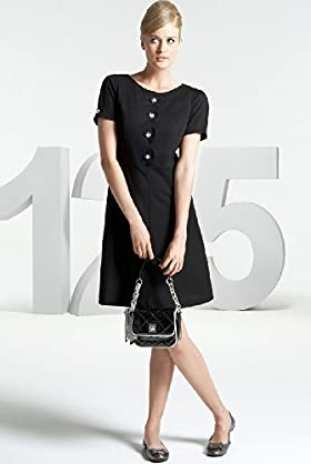 125 Years Button Detail Shift Dress - Marks & Spencer :  short sleeves dress marks spencer retro