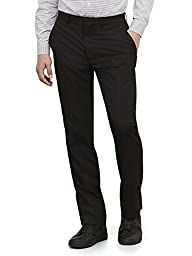 Kenneth Cole REACTION Men's Black Solid Suit Separate Pant, Black, 36W x 30L