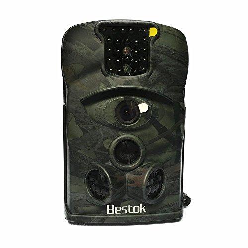 Bestok Ltl-8210A PIR Visione Notturna Grandangolare 140° Schermo LCD Hunting Camera Camouflage Macchine Fotografica da Caccia Traccia Selvaggio Animali Sorveglianza(Camouflage Verde)
