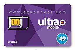Ultra Mobile triple punch Regular, Micro and Nano all in one SIM Card + $49 Plan free