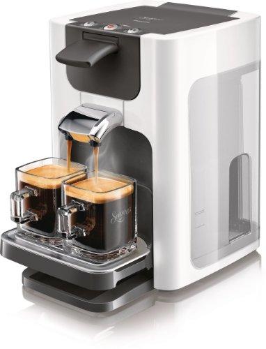 Philips HD7863/10 Senseo Quadrante Kaffeepadmaschine (1,2L Wasser tank) klavierlack/weiß