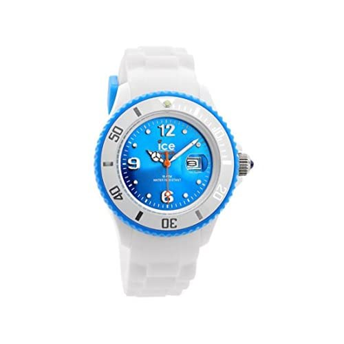 Ice-Watch Women's Quartz Watch with Turquoise Dial Analogue Display and White Silicone Strap SI.WT.S.S.12