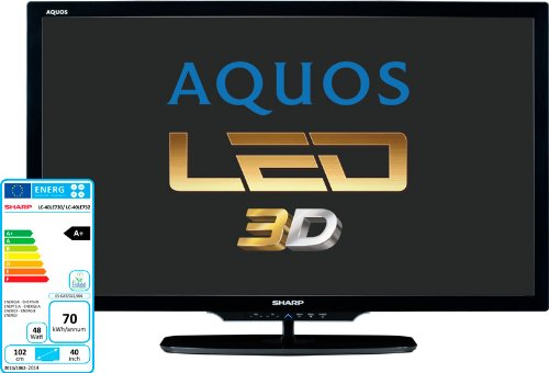 Sharp lcd lc46le732e led, 3d, fhd, 100hz edge led, 100hz, usb divx, hd dvb-t, dvb-s, aquos net