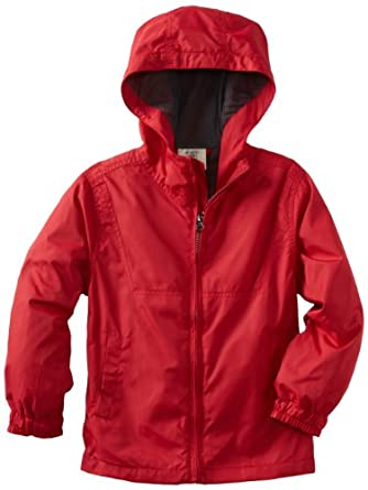Wes and Willy Boys 2-7 Windbreaker Jacket, Vm Red, 7