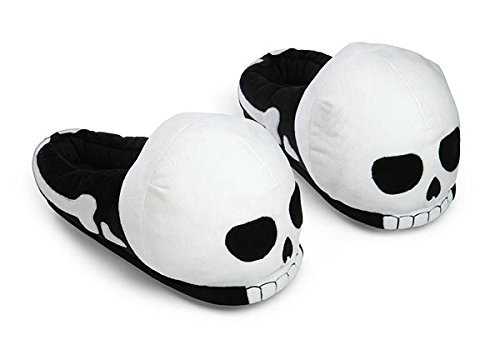ThinkGeek Plush Skull Slippers