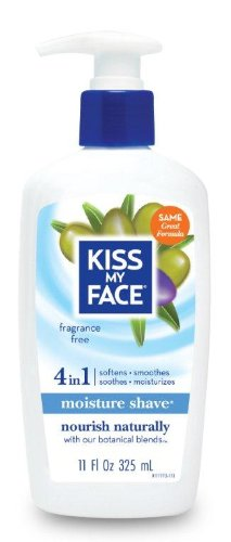 kiss-my-face-moisture-shave-shaving-cream-fragrance-free-shaving-soap-11-ounce-pumps-pack-of-4
