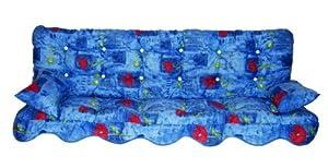 coussin pour balancelle de jardin 180x50x10 12 fleur blue. Black Bedroom Furniture Sets. Home Design Ideas