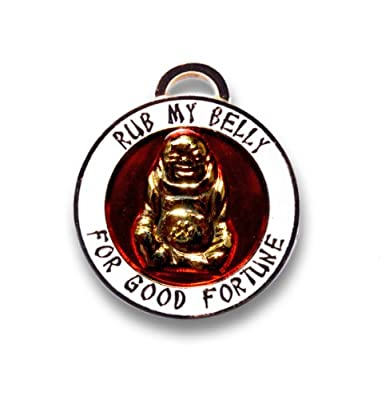 Luxepets Pet Collar Charm, Lucky Buddha, Gold