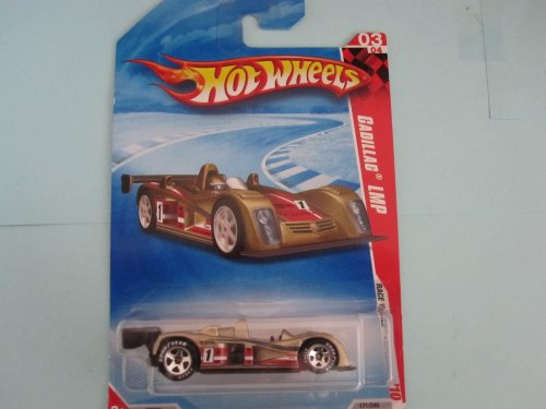 Cadillac LMP 	2010 Hot Wheels Race World - Speedway #04 Walmart Exclusive Gold w/Goodyear tires