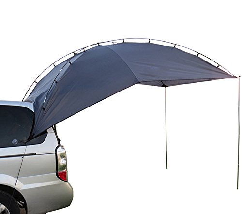 DANCHEL Car Awning Tent Camper Trailer Roof Top Family Tent for Beach Camping for all SUV MPV Anti-uv Tents canopy tenda (blue)