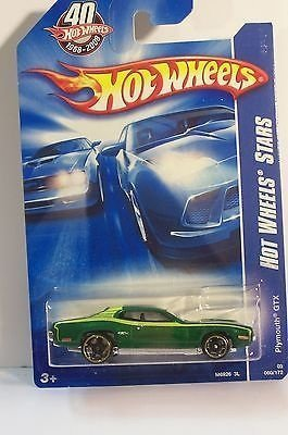 Hot Wheels Stars Plymouth GTX Green #060/172 International Card