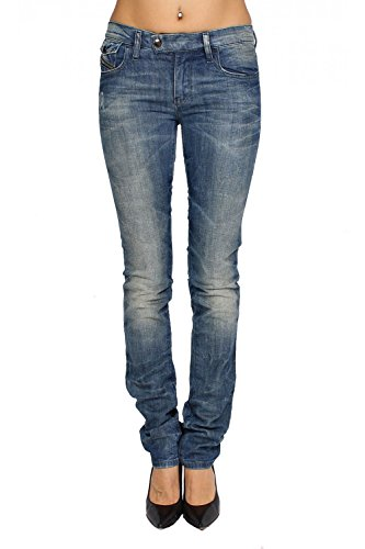 DIESEL - Jeans Donna LIVYBIKER 8E4 - Super Slim - Straight - Stretch - blu, W24 / L32