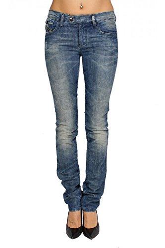 DIESEL - Jeans Donna LIVYBIKER 8E4 - Super Slim - Straight - Stretch - blu, W24 / L32