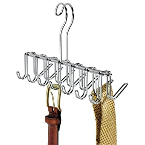 Click to buy Belt Hanger And Organizer: Chrome With 14 Hooks from Amazon!