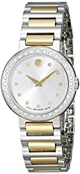 Movado Women's 0606794 Concerto Stainless Steel Watch with Two-Tone Link Bracelet