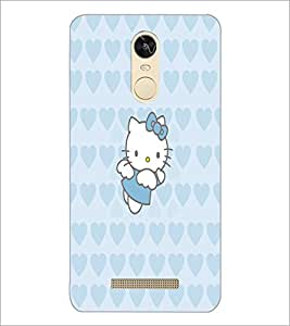 PrintDhaba Kitty D-5551 Back Case Cover for XIAOMI REDMI NOTE 3 PRO (Multi-Coloured)