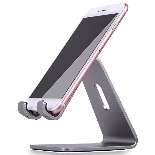 KAERSI K1 Desktop Tablet Stand: Charging Cradle, Display Dock for 4 to 13 inch All Smartphone, Tablets and E-reader, iPhone, iPad - Gray (Mobile Device Display Stand compare prices)