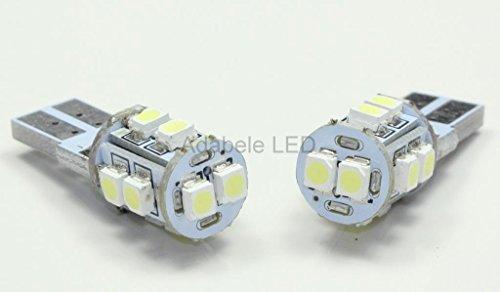 2X T10 1210 Smd 10 Led White Super Bright Car Light Bulb 194 168 2825 W5W L45 @ 147, 152, 158, 159, 161, 168, 184, 192, 193, 194 2856 Compare To Sylvania Osram Phillips