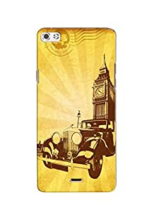 Print Tech back cover for Micromax sliver 5