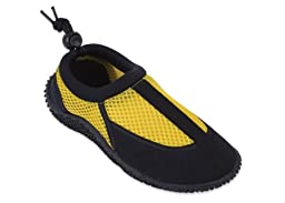 New Starbay Brand Children\'s Yellow & Black Athletic Water Shoes Aqua Socks Size 13