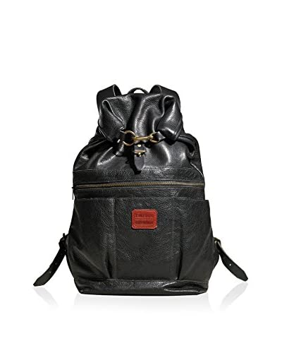 TM1985  Roll-Top Leather Backpack