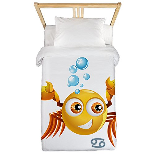 Twin Duvet Cover SmileyFace Zodiac Cancer