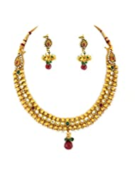 Goldencollections One Gram Gold Plated Necklace Set