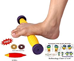Foot Acupressure Massager Pointed Spiked Single Roller 12 for Relaxation & Vitality