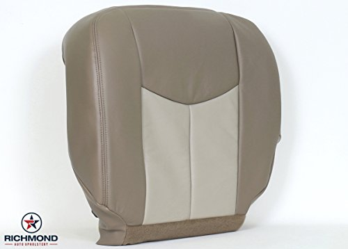 2003-gmc-sierra-denali-1500-driver-side-bottom-replacement-leather-seat-cover-2-tone-tan