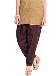 Frame Women's Cotton Salwar Bottom (SALWAR_BROWN_F_BROWN_Free Size)
