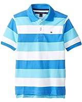 Tommy Hilfiger Little Boys' Short Sleeve Page Stripe Yarn Dye Pique Polo