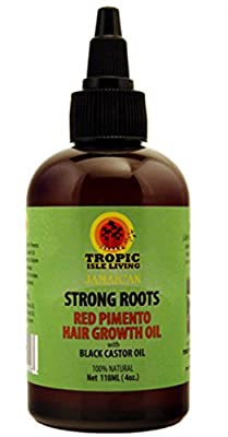 Tropic Isle Living Jamaican Strong Roots Red Pimento Hair Growth Oil, 4 oz