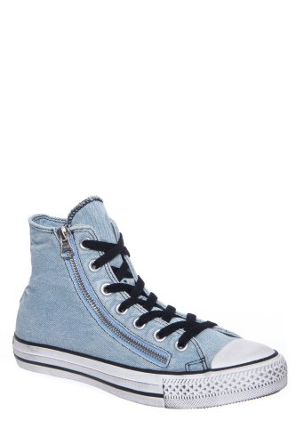 Converse Unisex Chuck Taylor? All Star? Denim Double Zip Hi Light Blue Men's 12 Medium (Light Blue Converse High Tops compare prices)