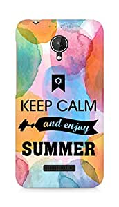 Amez Keey Calm and Enjoy Summer Back Cover For Micromax Canvas Spark Q380
