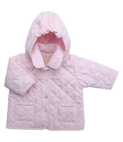 Emile et Rose Powder Pink Hooded Showerproof Jacket, Jackets, Baby girl, 6-9 months