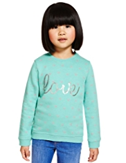 Pure Cotton Love Sweat Top with StayNEW™
