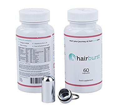 Hairburst Hair Vitamins, Pack of 2 - 60 Capsules Per Bottle Two Month Supply