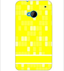 PrintDhaba Pattern D-1234 Back Case Cover for HTC ONE M7 (Multi-Coloured)