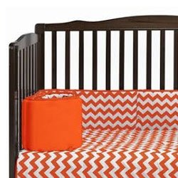Chevron Crib Bumper - 1