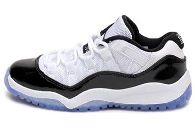 Buy Jordan 11 Retro Low (PS) Leather Basketball Shoes by Jordan