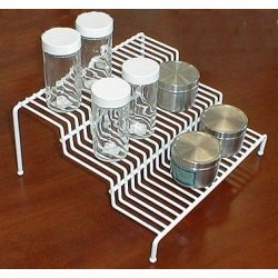 "Three Tier Spice Rack (White) (10 3/4""W x 9 1/4""D x 5""H)"