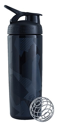 BlenderBottle SportMixer Signature Sleek Shaker Bottle, Shattered Slate Black, 28-Ounce (Mixing Sports Bottle compare prices)