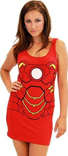 Iron Man rot Junior Kostüm Tunic Tank Kleid (Junior Large)