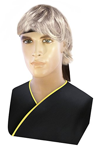 Men's Cobra Kai Costume Karate Kid Costume Blonde Johnny Wig
