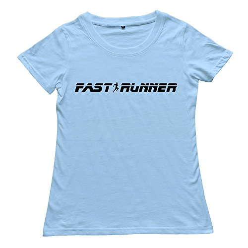 Ywt Fast Runner Small Womens T-Shirt Slim Fit Cool Skyblue