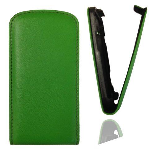 Flipcase Hülle Etui Handytasche Slim in grün mit für Samsung Galaxy Trend GT-S7560 / Duos GT-S7562 / Plus GT-S7580 / Duos 2 GT-S7582 inkl. World-of-Technik Touchpen