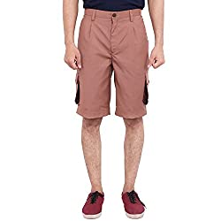FBBIC Extravagant Black Men's Solid Short(Size::M)